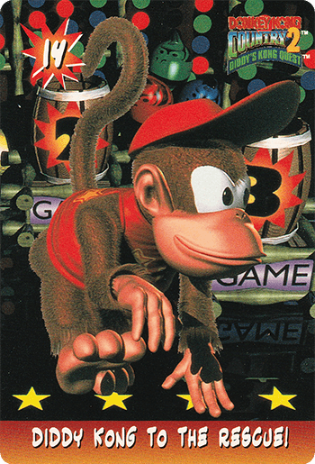 #14 DIDDY KONG TO THE RESCUE! - Card Front.