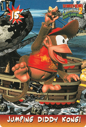 #15 JUMPING DIDDY KONG! - Card Front.