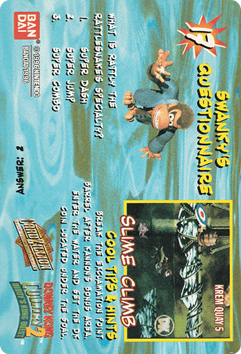 #17 SWIMMING DIDDY KONG - Card Back.