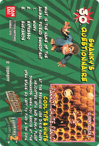 #30 FUNKY KONG - Card Back.