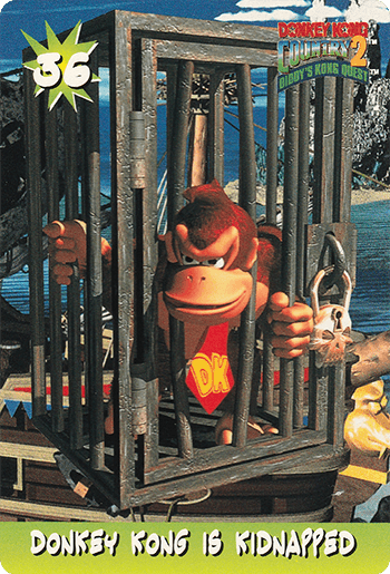 #36 DONKEY KONG IS KIDNAPPED - Card Front.