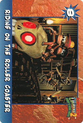 #8 RIDING ON THE ROLLER COASTER - Card Front.