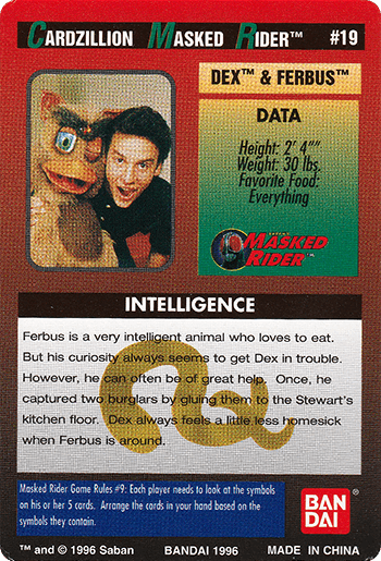 #19 DEX™ & FERBUS™ - Card Back.
