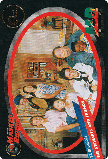#23 THE STEWARTS AND FRIENDS - Card Front.