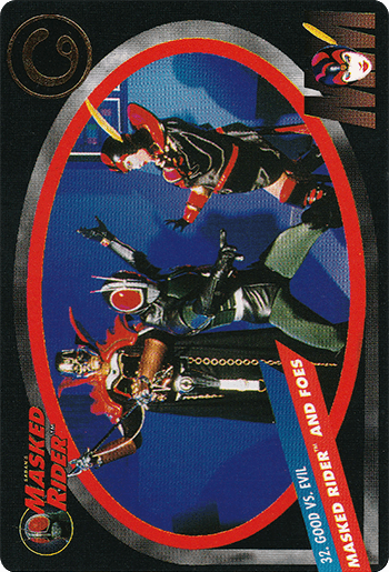 #32 MASKED RIDER™ AND FOES - Card Front.