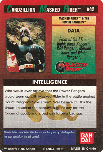 #42 MASKED RIDER™ AND THE POWER RANGERS™ - Card Back.
