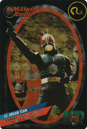 #42 MASKED RIDER™ AND THE POWER RANGERS™ - Card Front.