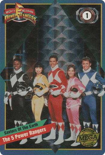 #1 The 5 Power Rangers™ - Card Front.