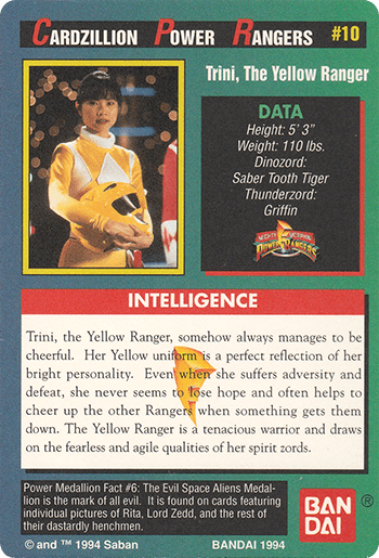 #10 Trini, The Yellow Ranger - Card Back.