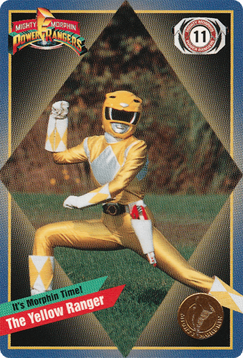 #11 The Yellow Ranger - Card Front.