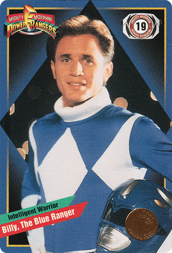 #19 Billy, The Blue Ranger - Card Front.