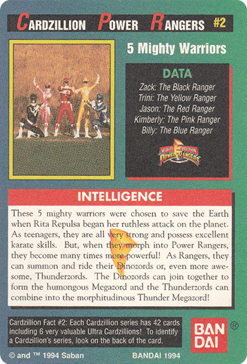 #2 5 Mighty Warriors - Card Back.