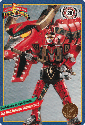 #26 The Red Dragon Thunderzord - Card Front.