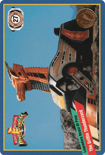 #27 The Griffin Thunderzord - Card Front.