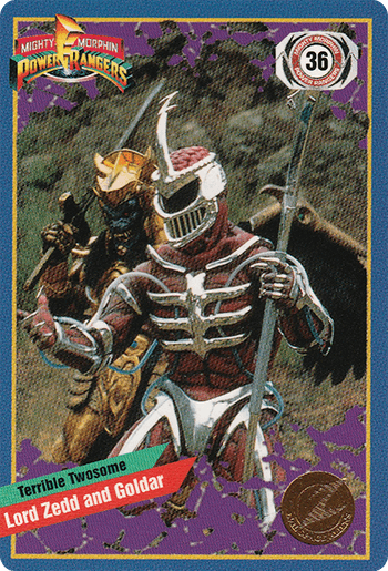#36 Lord Zedd and Goldar - Card Front.