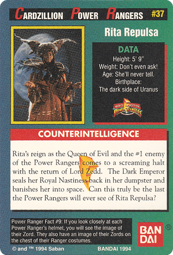 #37 Rita Repulsa - Card Back.