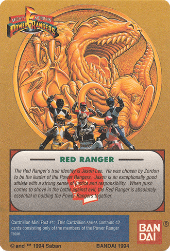 #1 Jason: Red Ranger - Card Back.