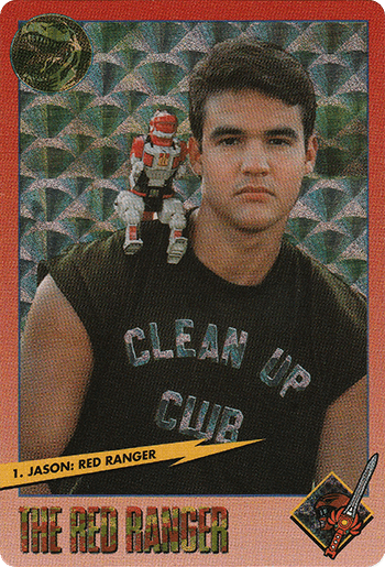 #1 Jason: Red Ranger - Card Front.