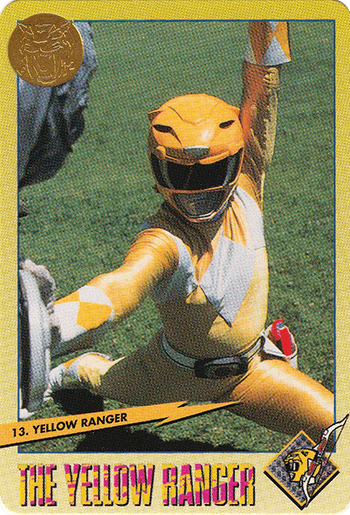 #13 Yellow Ranger - Card Front.