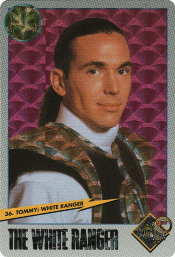 #36 Tommy: White Ranger - Card Front.
