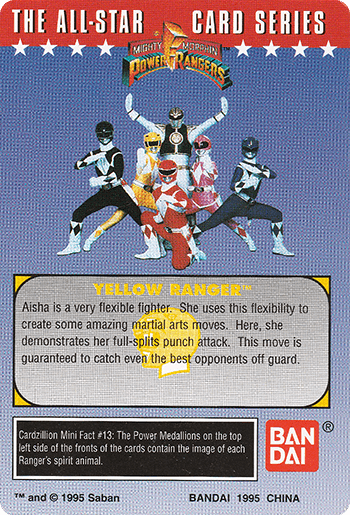 #13 It's Morphin Time! - Card Back.