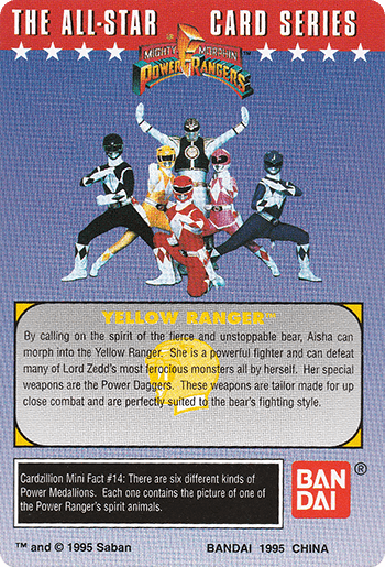 #14 The Yellow Ranger - Card Back.