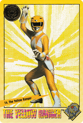 #14 The Yellow Ranger - Card Front.