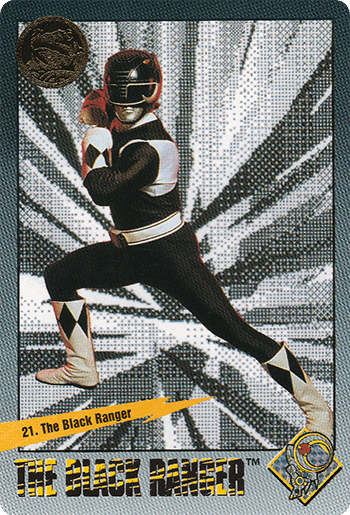 #21 The Black Ranger - Card Front.