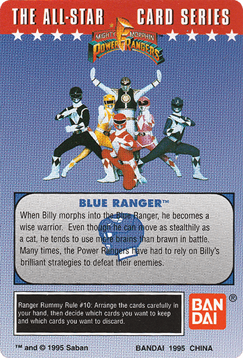 #34 It's Morphin Time! - Card Back.