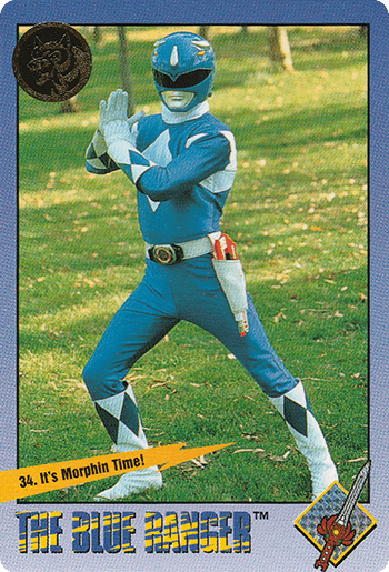 #34 It's Morphin Time! - Card Front.