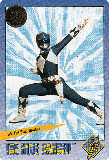 #35 The Blue Ranger - Card Front.
