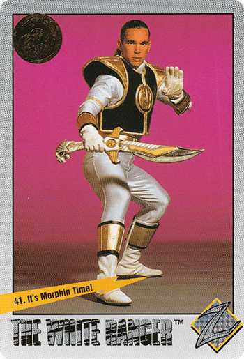 #41 It's Morphin Time! - Card Front.