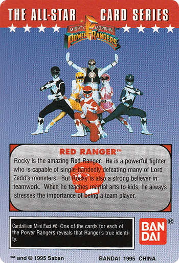 #6 It's Morphin Time! - Card Back.