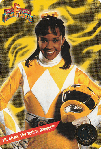 #10 Aisha, The Yellow Ranger™ - Card Front.