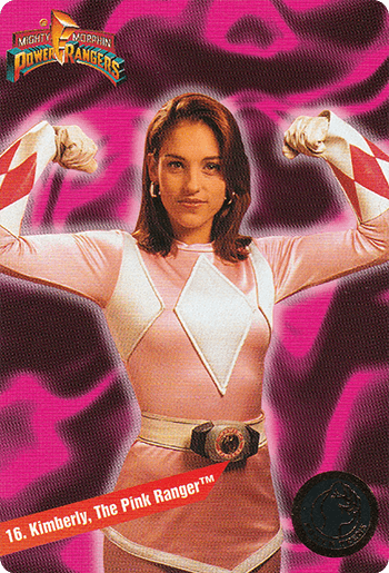 #16 Kimberly, The Pink Ranger™ - Card Front.
