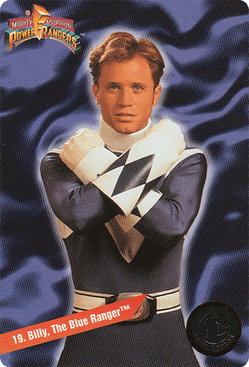 #19 Billy, The Blue Ranger™ - Card Front.