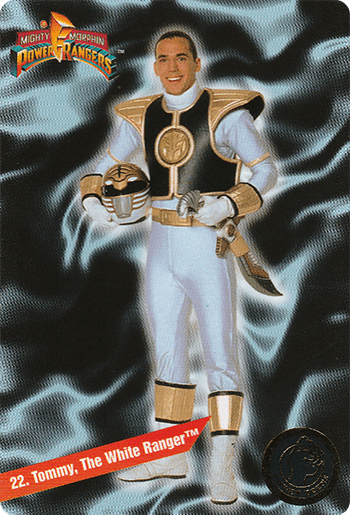 #22 Tommy, The White Ranger™ - Card Front.