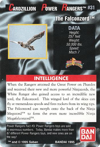 #31 The Falconzord™ - Card Back.