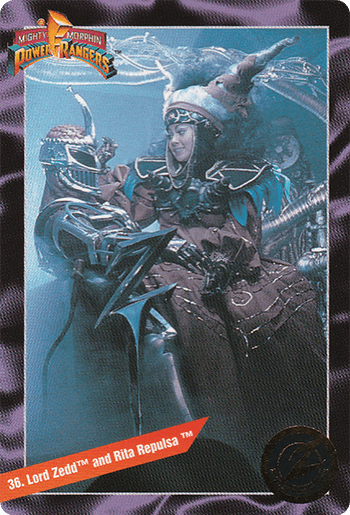 #36 Lord Zedd™ and Rita Repulsa™ - Card Front.
