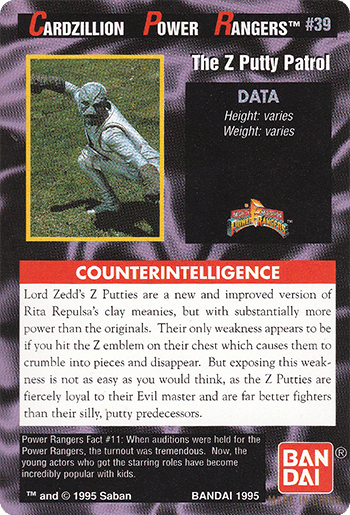 #39 The Z Putty Patrol - Card Back.