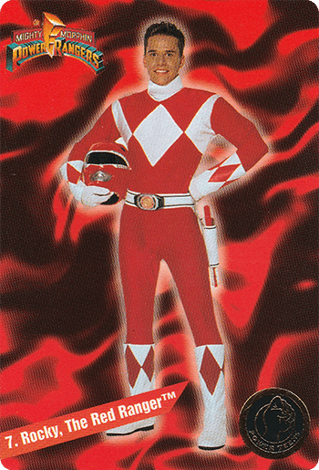 #7 Rocky, The Red Ranger™ - Card Front.