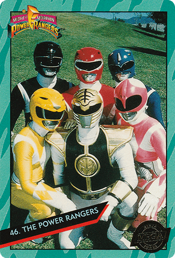 #46 THE POWER RANGERS - Card Front.