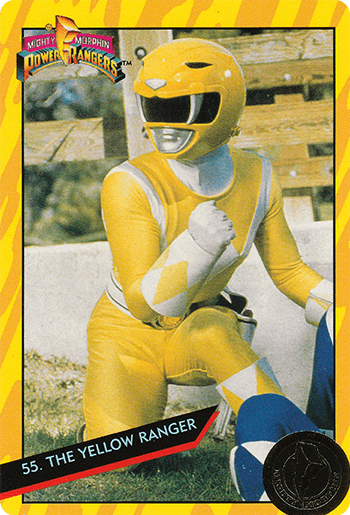 #55 THE YELLOW RANGER - Card Front.