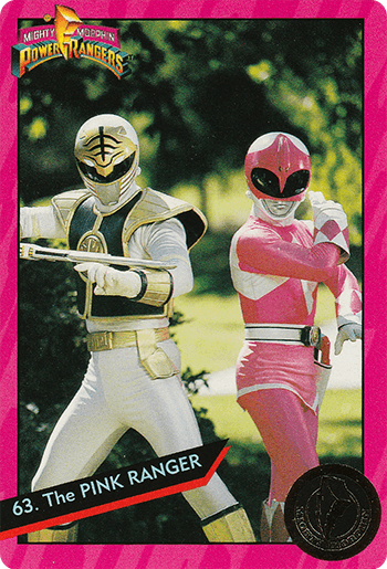 #63 The PINK RANGER - Card Front.