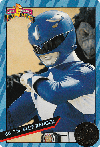 #66 The BLUE RANGER - Card Front.