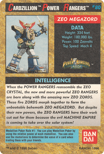 #80 ZEO MEGAZORD - Card Back.