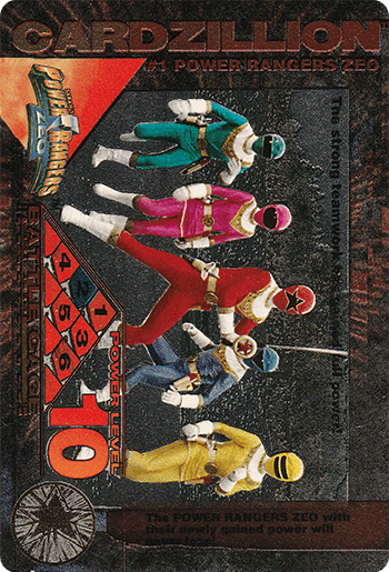 #1 POWER RANGERS ZEO - Card Front.