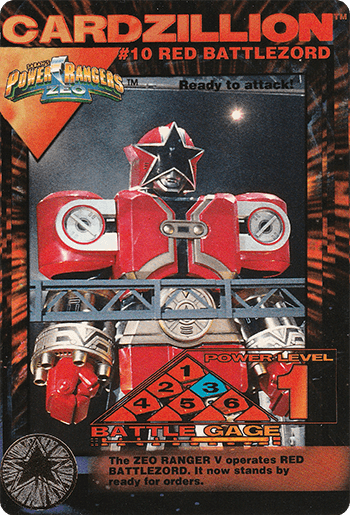 #10 RED BATTLEZORD - Card Front.