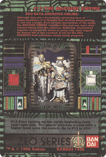 #12 THE MACHINE EMPIRE - Card Back.