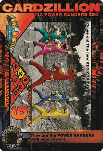 #13 POWER RANGERS ZEO - Card Front.